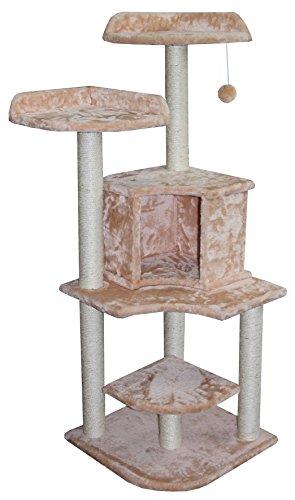 Europet-Bernina-431423714-Cat-Furniture-Abyssin-50-x-50-x-134-cm-Beige