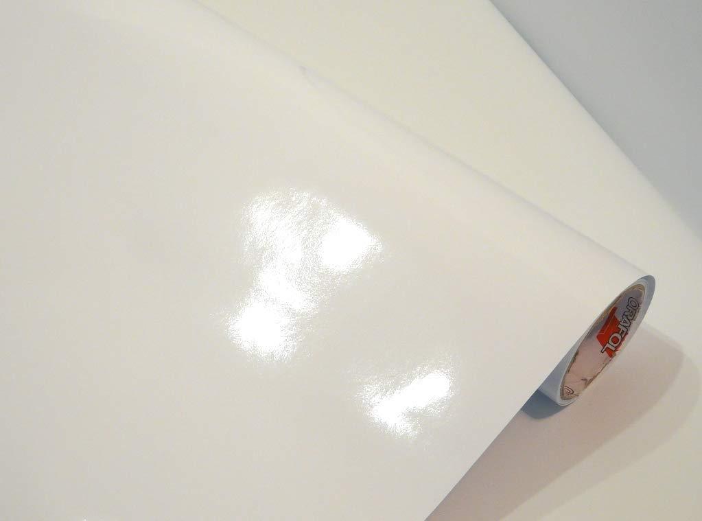 Gr/ö/ße Wei/ß L100xB63cm Neuheit bei tjapalo/® M/öbelfolie wei/ß hochglanz K/üchenfolie Bastelfolie T/ürfolie Klebefolie zum basteln folie zum bekleben von m/öbel mit Anleitung Farbe