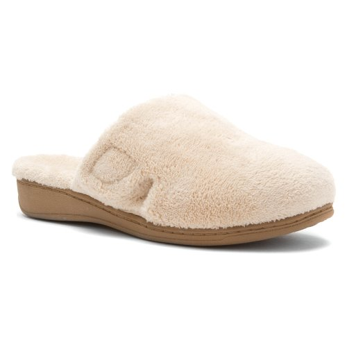Orthaheel by Vionic Indulge Gemma Women Round Toe Canvas Gray Slipper Tan buy cheap with paypal footlocker finishline free shipping order rHrbf