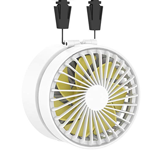 EasyAcc Battery Necklace Fan Hand Free Rechargeable 2600mAh Battery Mini Personal Portable Desk USB Fan with 3 Settings 3-10H USB Battery Operated Cooling Folding Electric Fan for Outdoors Traveling (9 Personal Fan)