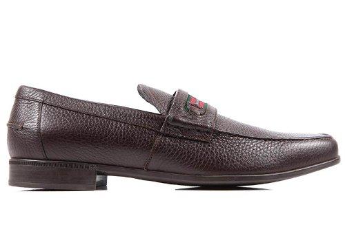 Gucci mocasines en piel hombres nuevo road marrón EU 41.5 295786 AHM30 2156: Amazon.es: Zapatos y complementos