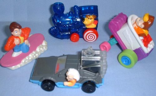 Mcdonalds Fast Food - Back to the Future Set of Four Toys, 1992 McDonalds Fast Food Promotion