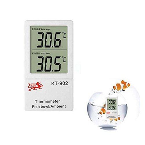 NEW!! Large Digital Display Thermometer Aquarium & Ambient Temperature by Karen Low