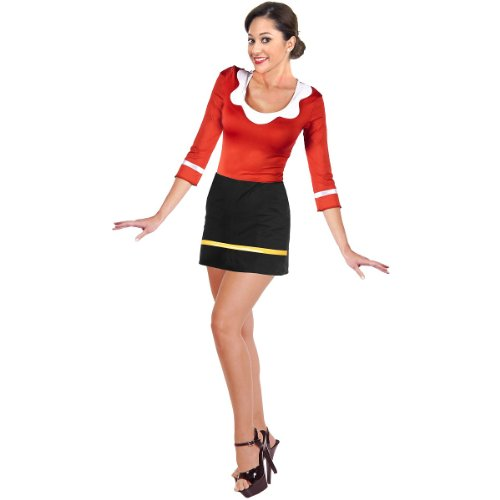 Olive Costume - X-Large - Dress Size 14-16 (Olive Oyl Fancy Dress)