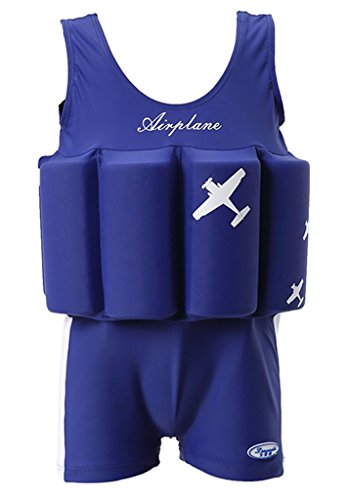 Baby Kids Floatation Suit Float One-Piece Swimwear Buoyancy for Girls Boys,Blue,90(1-2T)