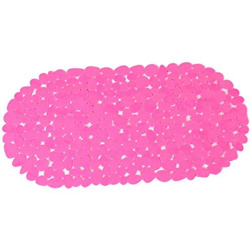 ilovebaby Sandy Stone Baby Kids Safety Non Slip Tub Shower Bath Mat, Mildew Mold Resistant Bathmat (Rose Red) by ilovebaby