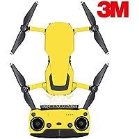 SopiGuard 3M Matte Yellow Precision Edge-to-Edge Coverage Vinyl Sticker Skin Controller 3 x Battery Wraps for DJI Mavic Air
