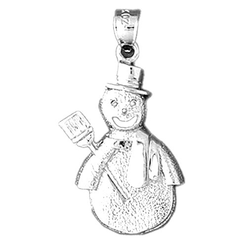 Sterling Silver Snowman Pendant - 33 mm - Made in the USA