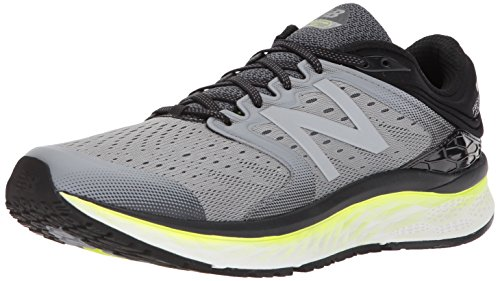 New Balance Men's 1080v8 Fresh Foam Running Shoe, Grey/Yellow, 10 2E US