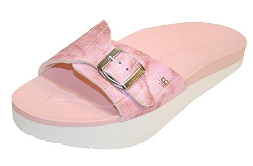 Beautystep Aktiv Fitness Sandale rosa Krokodesign