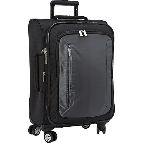 Calvin Klein Tremont 21 Inch Upright Carry-On Suitcase, Gray, One Size by Calvin Klein