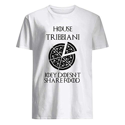 USA 80s TEE House Tribbiani Joey Doesn't Share Food Shirt White]()