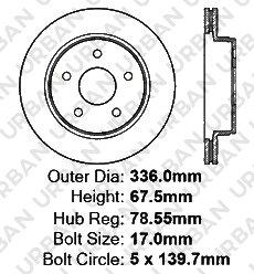 4 Ceramic Pads 2 Heavy Duty Cross Drilled Extra-Life Premium Disc Brake Rotors Front Kit -Combo Brake Kit 5lug