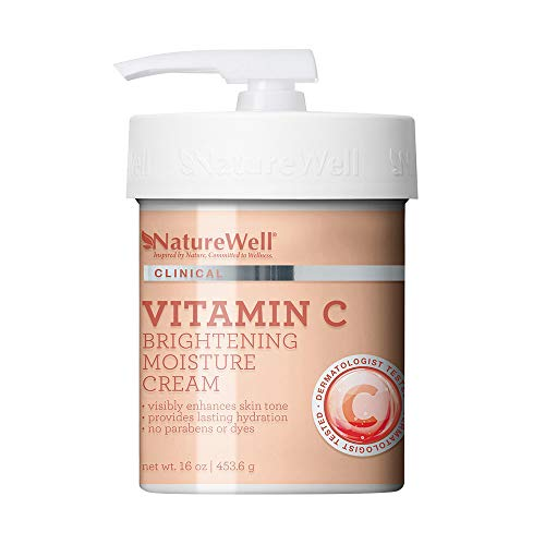 NatureWell Vitamin C Brightening Moisture Cream, 16 oz | Clinical | Provides Lasting Hydration & Visibly Enhances Skin Tone