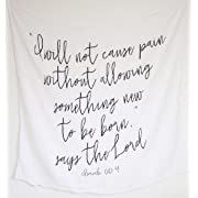 Bible Verse Organic Baby Swaddle (James 1:17)