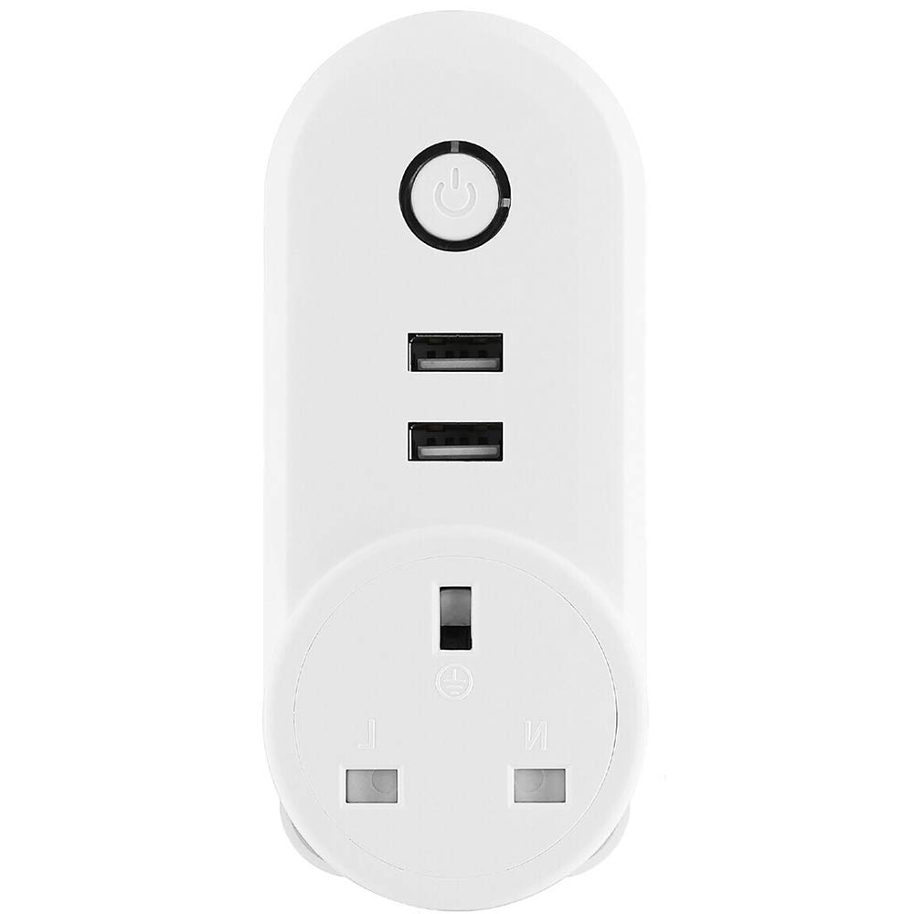 WiFi Smart Plug, King-Link Wireless Remote Control Smart Wall Socket with Dual USB Outlets, Compatible with  Alexa & Google Home (1) ChengYing