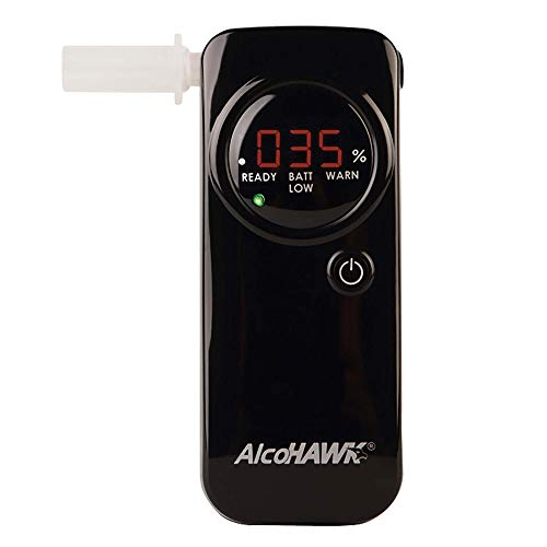 (AlcoHAWK PRO FC Breathalyzer with Fuel Cell Technology. Professional-Grade Alcohol Tester with Enhanced Accuracy and 3-Digit Readout. Portable BAC Breathalyzer)