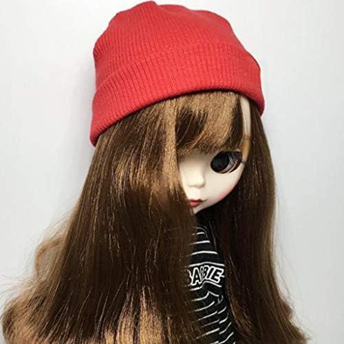 ウール帽子 ビーニーズ 冬 1/6ファッション人形用 人形アクセサリー 贈り物 全6色 - ホワイト