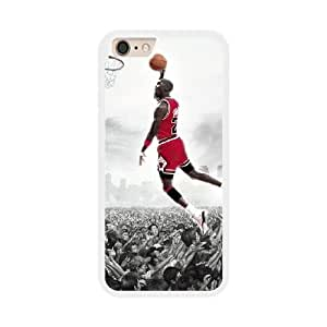 Michael Jordan G1H1LH1U Caso funda iPhone 6 Plus 5.5 pulgadas del teléfono celular blanco