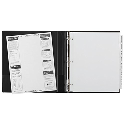 avery big tab inserts for dividers 8 tab template - avery 11223 insertable big tab dividers 8 tab 11 1 8 x 9