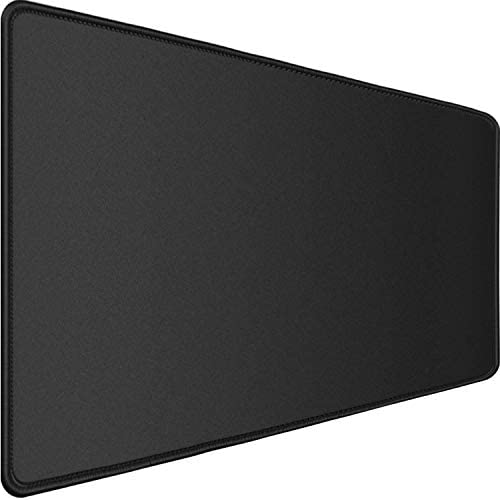 "Gaming Mouse Pad,Upgraded Ergonomic Larger Extended Gaming Mouse Pad with Durable Stitched Edge,Waterproof Non-Slip Base,Best Gaming Mouse Pad for Gamer, Computer,Laptop, 31.5""x15.7""x0.12"", Black"