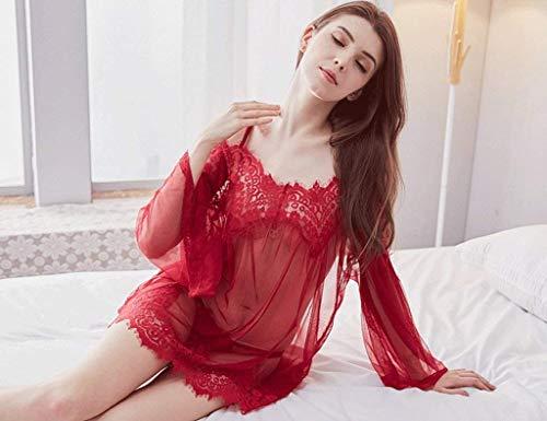 Camisón Dormir Vestido Tirantes Ropa Sin Manga Noche De Mujer Basic Hueco Pijamas Transparentes Sling Larga Rot rr6dwqT
