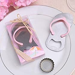 "24 pcs Special""pop the Top"" Flip-flop Bottle Opener for Wedding Favor (Pink)"