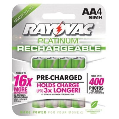 Platinum Rechargeable AA NiMH Battery (4 pack) - Platinum Nickels