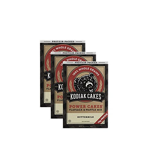Kodiak Cakes Protein Pancake Power Cakes, Flapjack and Waffle Baking Mix, Buttermilk, 20 Ounce (Pack of 3) (No Flour Wheat)