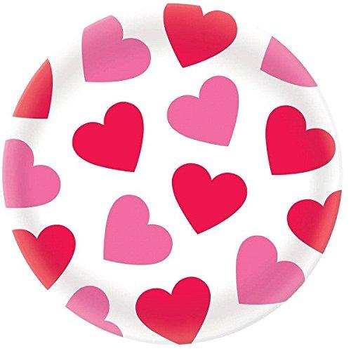 Valentine Hearts Round Platter