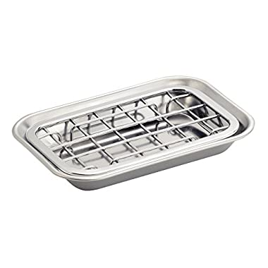 InterDesign Sinkworks Two Piece Soap Dish, Stainless Steel, Chrome