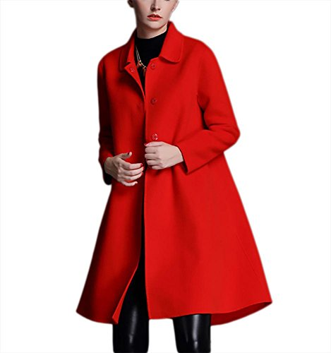 Red Hem Donna Rosso Cappotto S Nero Cashmere Double L Inverno Lunghi Vento Autunno Abiti A Lana Ispessimento Casual Giacca M sided Big In Outwear Verde Xl Risvolto PFqYEHxwS