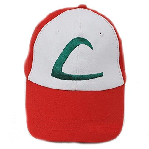 Childrens Kids Youth Ash Ketchum Embroidered Cotton Baseball Cap Trainer Hat By Creative Apparel (Boys Baseball Costumes)