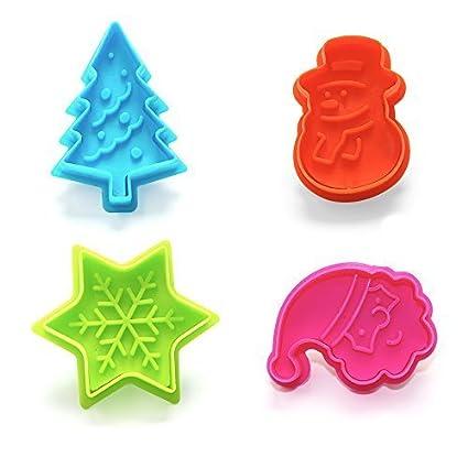 Juego de 4moldes cortadores con diseño de árbol de Navidad