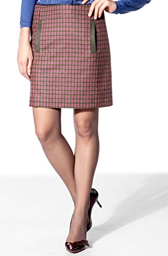Daniel Hechter Damen Rock Schurwollmix Skirt Kariert, Größe: 36, Farbe: Rot