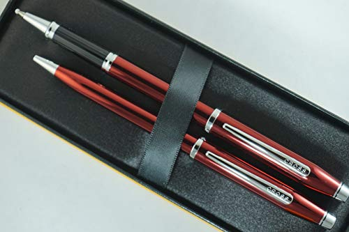Cross Century II Limited Series, Pearlescent Metallic Ruby red selectip Gel Ink Rollerball Pen and Ballpoint Pen. A Great Gift to Anyone, Especially Him and Her by A.T. Cross (Image #3)