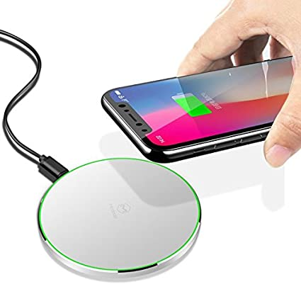 Mcdodo LED Wireless Fast Charger Charging 10W Pad for iPhone X, 8/8 Plus, Nexus 5/6 / 7, and Other Devices, Provides Fast-Charging for Galaxy S8/ S8+/ ...