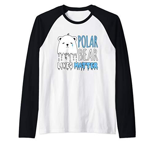 (Polar Bear Lives Matter - Save The Polar Bears Raglan Baseball Tee)