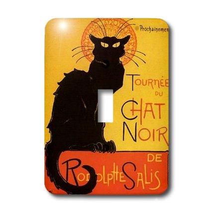Le Chat Switchplate - 3dRose LLC lsp_46907_1 Le Chat Noir Advertising, Art Nouveau, Black Cat, Cat, Cats, Chat Noir, Le Chat Single Toggle Switch