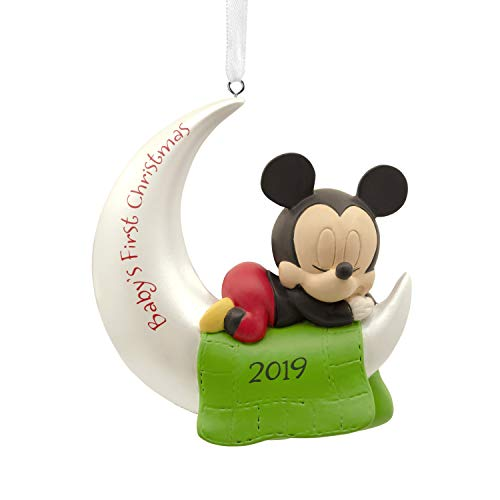 Hallmark Christmas Ornaments 2019 Year Dated, Disney Mickey Mouse Baby's First Christmas Ornament ()