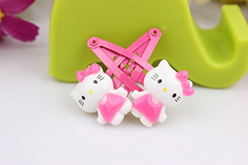 12c59d152 NiceGo Pink Hair Bows Clips for Girls – Hello Kitty Ribbon Boutique Kids  Hair Accessories For Babies ...