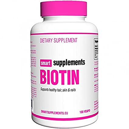 Smart Supplements Biotina Suplemento - 100 Cápsulas
