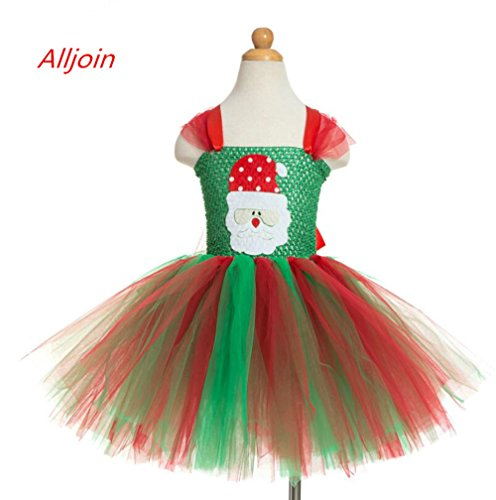 2017 Baby Girls Christmas Dress, Alljoin Outfits Romper Princess Dress (2-3 year (Christmas Pageant Wear)