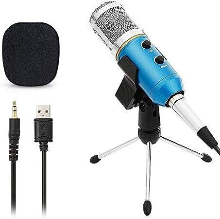 ARCHEER Micr/ófono PC,Micr/ófono USB de Condensador para Ordenador Plug /& Play con Soporte Tr/ípode /& Antipop Filtro Micr/ófono Condensador de Metal para Grabaci/ón Vocal//Skype//Podcasting//Video de Youtube