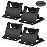 Boxeroo Phone Stand 4-Pack Multi-Angle Cell Phone Stand Desk Stand Holder Tablet Stand Compatible for iPhone, Galaxy S10 S9 S8 S7 S6, Note 9 8, LG, OnePlus 5T Tablets, E-Readers and Phones - Black