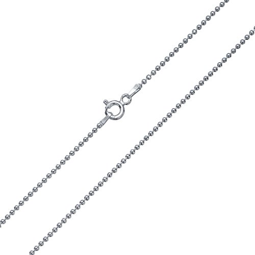 Sterling Silver 150 Gauge Italy Ball Bead Chain 18 Inches