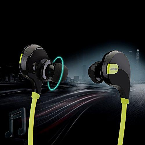 Mpow Swift Bluetooth 4.0 Wireless Sport Headphones Sweatproof Running Gym Exercise Headsets-Green