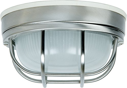 Craftmade Z394-SS Bulkhead Outdoor Retro Flush Mount Ceiling Lighting, 1-Light, 60 Watt (8