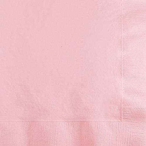Creative Converting 57158B 500-Count Touch of Color 3-Ply Paper Beverage Napkins, Classic Pink (Beverage Napkins Pink Classic)