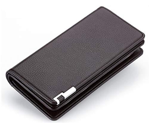 À Portefeuille Zipper Portable Poche Business Multifonctionnel Brown Les Longue De Hommes Main Pour Sac Téléphone Jeunesse AdPwqx1PH